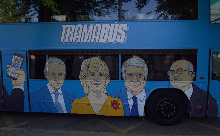 Algunas de las personalidades señaladas en el Tramabús