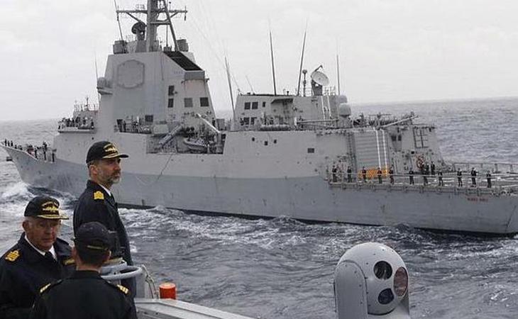 El Rey Felipe VI durante un acto oficial de la Armada