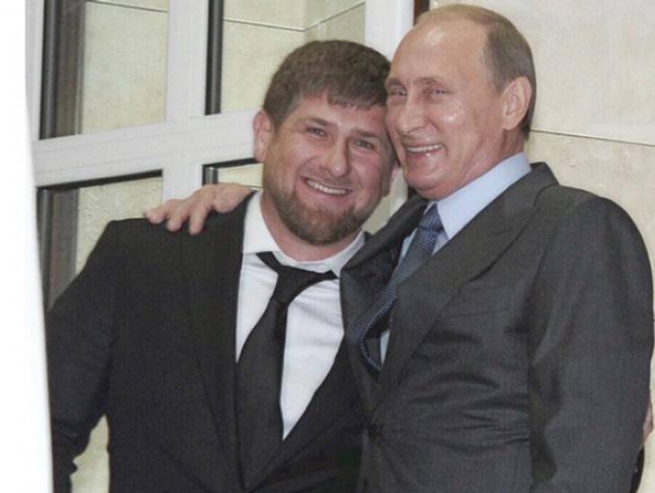Ramzán Kadýrovjunto al presidente ruso, Vladimir Putin