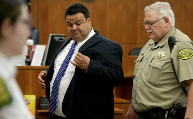 El obispo Keith Robert Vallejo durante el juicio en el que ha sido condenado por abusar sexualmente de once mujeres