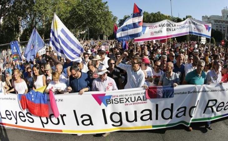 Manifestación del Orgullo Gay en Madrid para reclamar los derechos de la comunidad LGTBI
