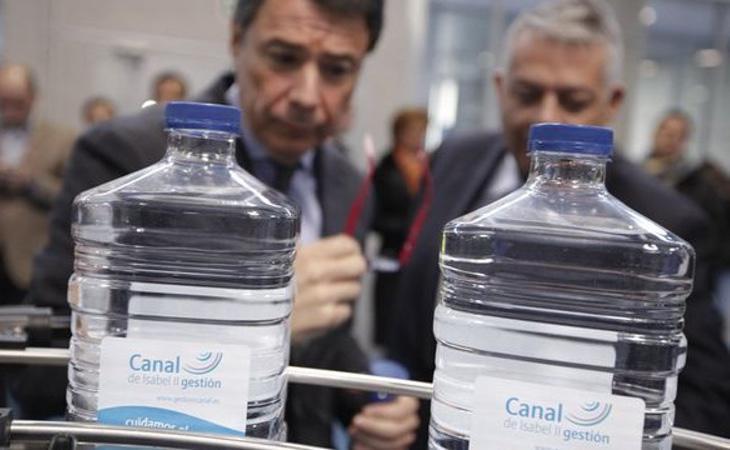 El expresidente de la Comunidad de Madrid, Ignacio González, en un acto oficial del Canal de Isabel II