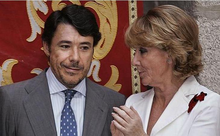 Esperanza Aguirre junto a Ignacio González, en un acto oficial
