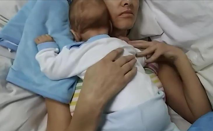 Amelia y su hijo