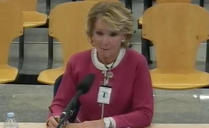 Esperanza Aguirre declara como testigo en el caso Gürtel