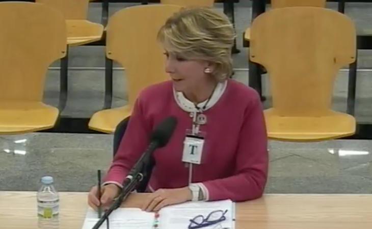 Esperanza Aguirre ha asegurado no saber quién era Correa