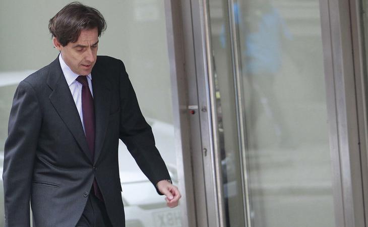 López Madrid en la entrada de la Audiencia Nacional