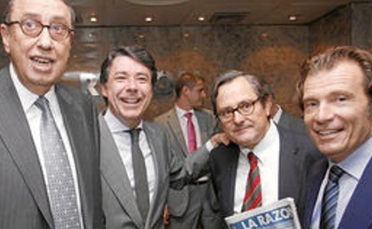 Mauricio Casals (izq) junto al expresidente de la Comunidad de Madrid, Ignacio González y el presidente de La Razón, Francisco Marhuenda