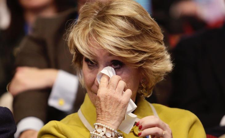 Esperanza Aguirre sufre mucho por los casos aislados de corrupcón de su partido