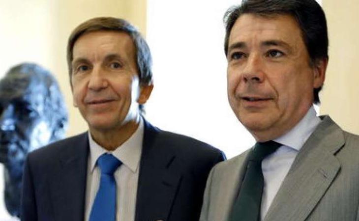 El fiscal jefe Anticorrupción, junto al expresidente madrileño, Ignacio González, en una fotografía de archivo