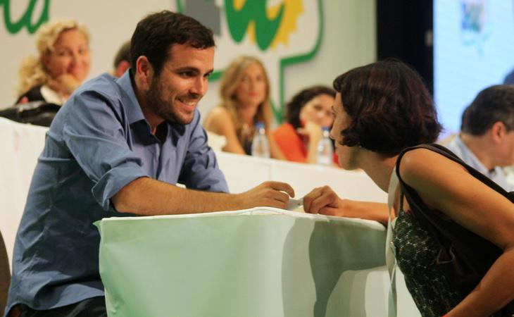 El líder de Izquierda Unida, Alberto Garzón, ha sido el único que se ha definido abiertamente como feminista