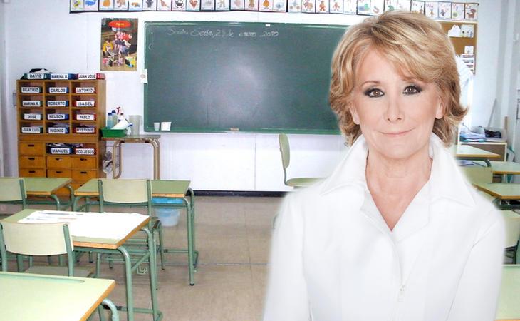 La profe Aguirre hará rotondas en las aulas