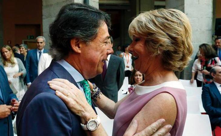El expresidente Ignacio González, junto a Esperanza Aguirre