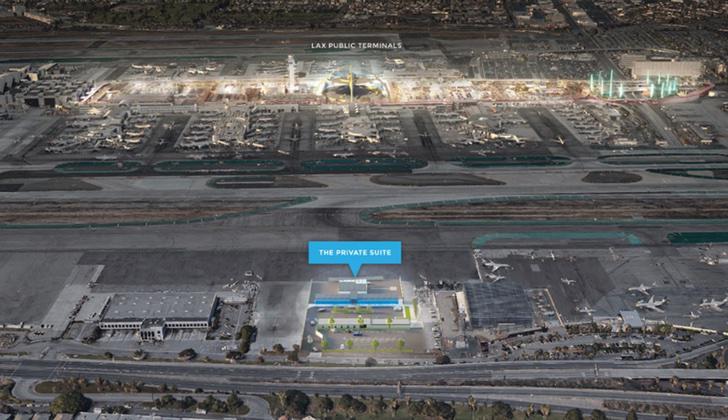 La nueva terminal para famosos en LAX, está situada al lado opuesto