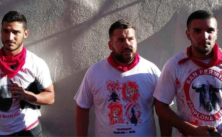 Varios de los acusados por violación durante los SanFermines
