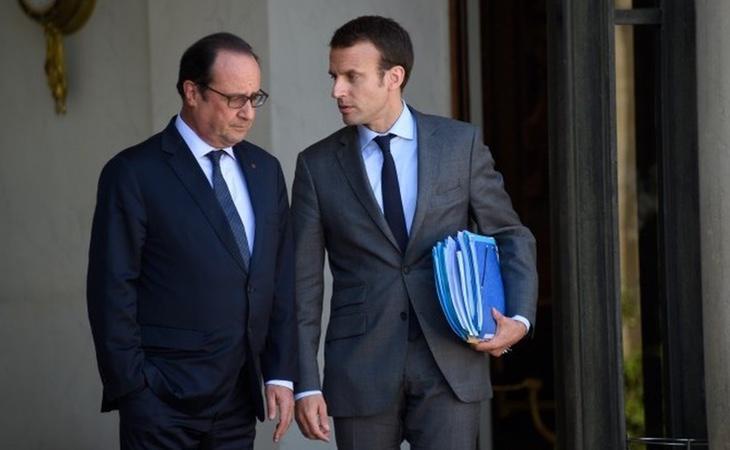Macron mantiene muy buenas relaciones con el expresidente François Hollande