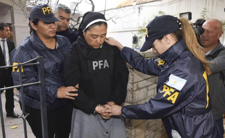 La monja fue detenida por la Justicia