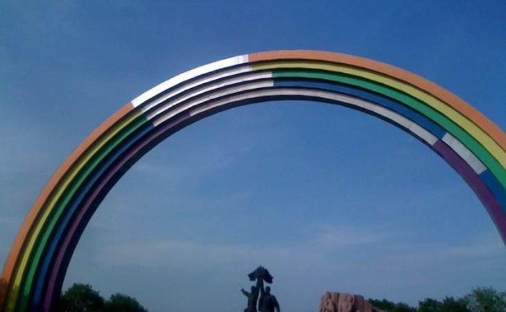 Así se ve el arco ahora mismo