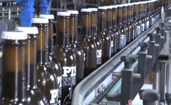 Fábrica de la cerveza con orina