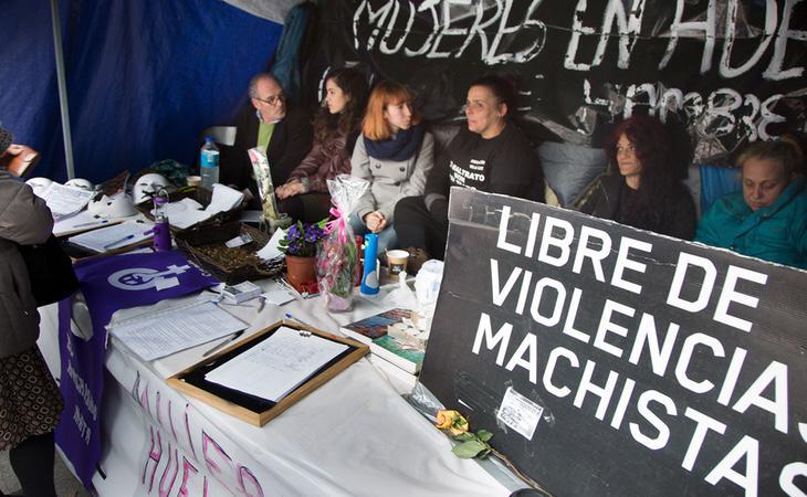 Las mujeres de Sol, durante su primera huelga de hambre