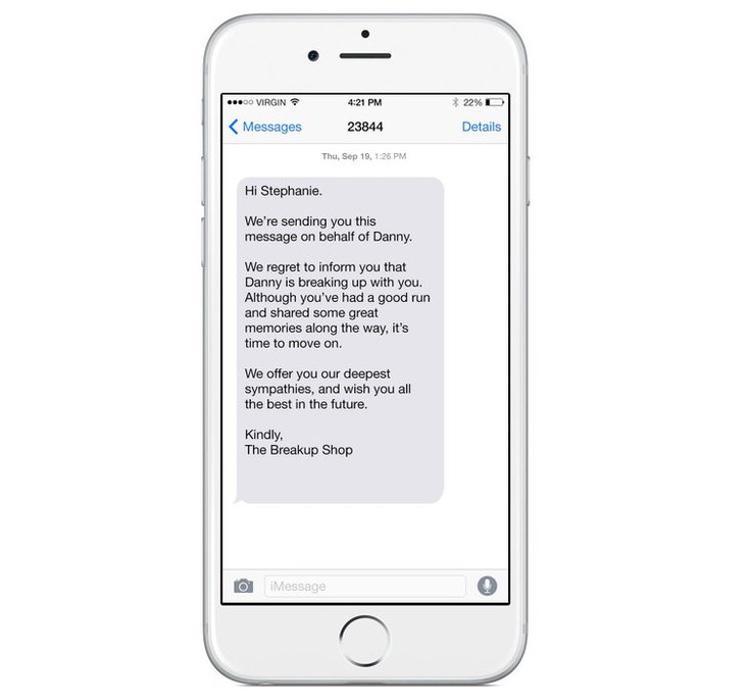 Uno de los SMS que la empresa podría enviar a tu pareja