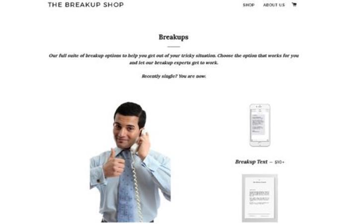 Hay una página web en la que puedes encargar que dejen a tu pareja por ti