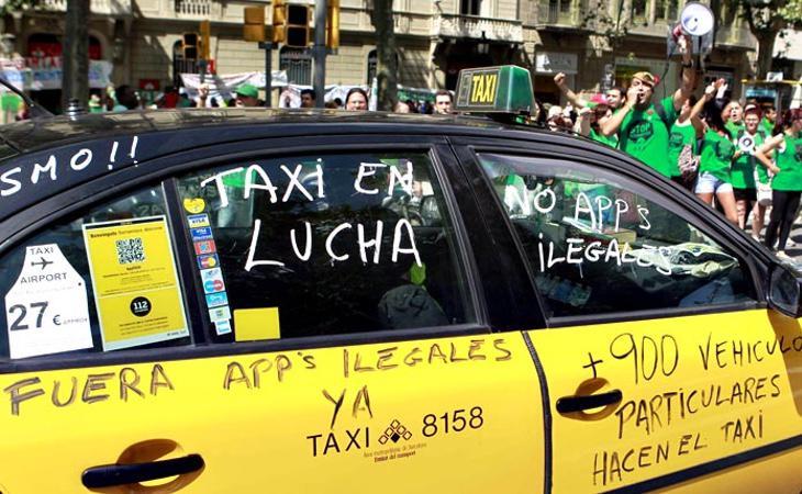 Los taxistas de Barcelona se querellaron contra Uber ante el Tribunal de la Unión Europea