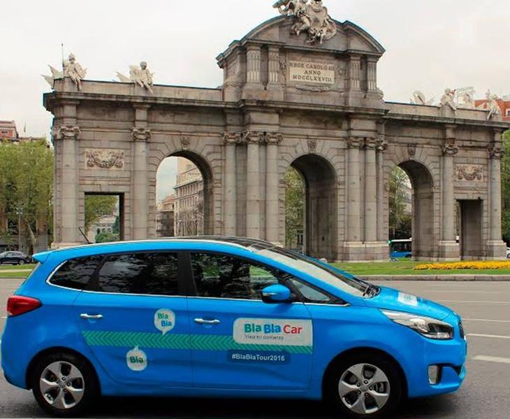 Dos conductores de Blablacar fueron multados con 4.000 euros en Madrid por no contar con la autorización de las autoridades
