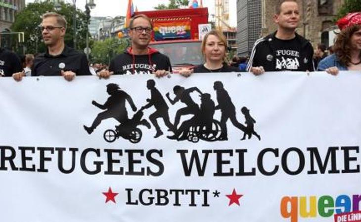Manifestación a favor de los derechos de los refugiados