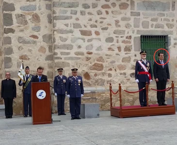 Fotografía del acto en el que participó el número dos de Interior