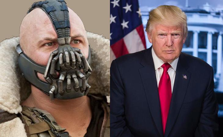Trump copió su discurso de investidura a Bane, el villano de Batman