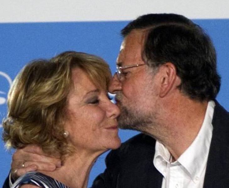 Aguirre y Rajoy, en un acto oficial del PP