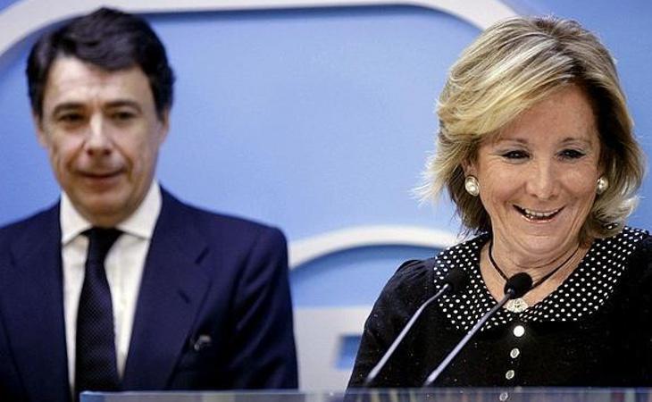 La mayoría de las facturas coinciden con la época en la que Esperanza Aguirre presidía la Comunidad de Madrid