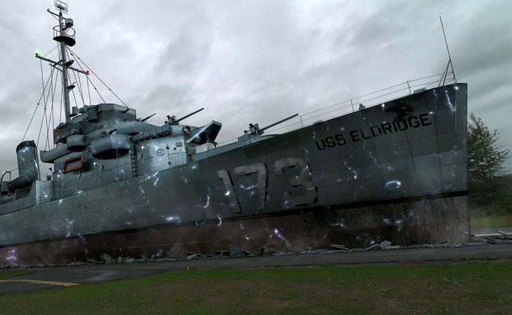 El Gobierno de Estados Unidos teletransportó el buque USS Eldirdge DE-173
