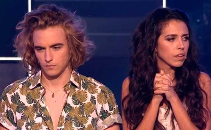 Manel Navarro y Mirela en la gala 'Objetivo Eurovisión