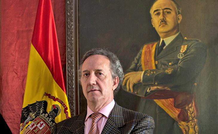 El presidente de la Fundación Francisco Franco, Alonso García