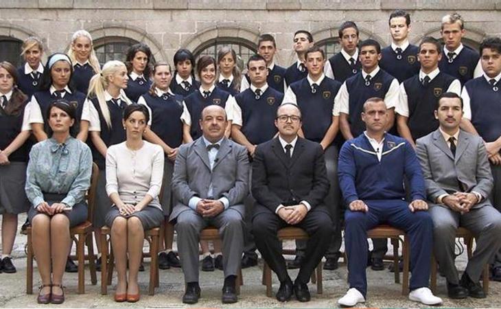 Alumnos y profesores del Sansevero EN 'curso del 63'