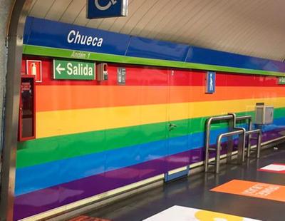 Retiran la bandera arcoiris del metro de Chueca a un mes del World Pride
