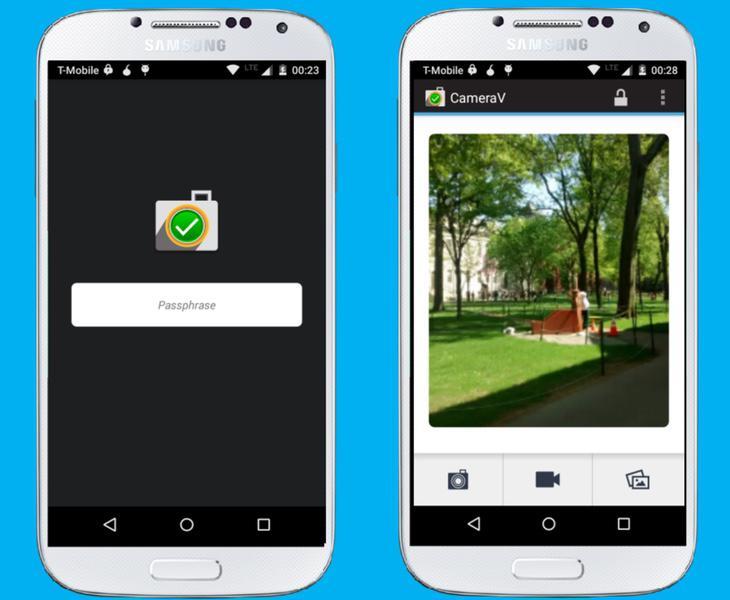 CameraV solo funciona en Android