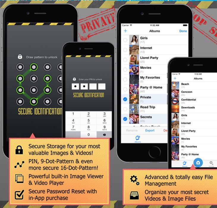 Photosafe es válida para Android y Iphone