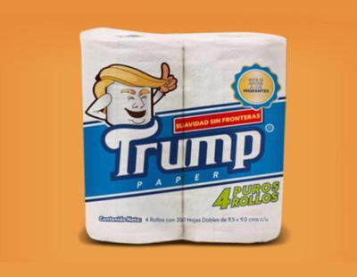 Crean un papel higiénico llamado Trump para ayudar a los inmigrantes deportados