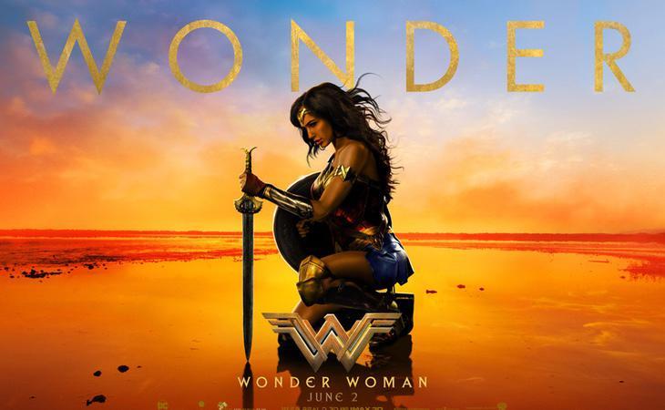 Cartel promocional de la película 'Wonder Woman'