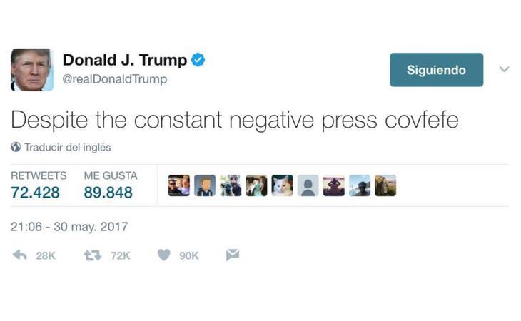 Este es el misterioso mensaje publicado por Trump