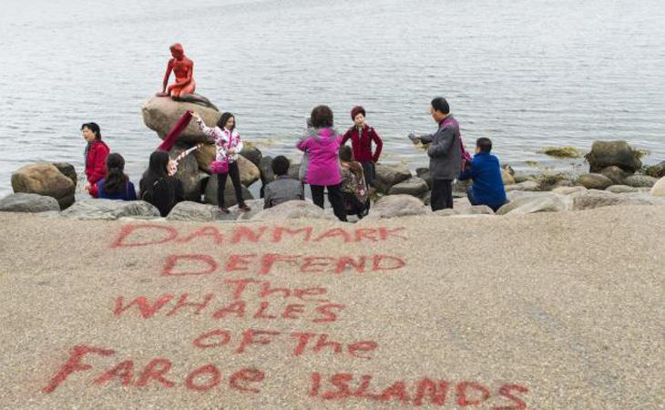 Los activistas han escrito el siguiente mensaje: