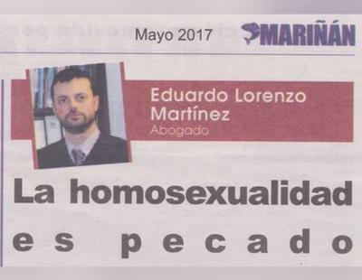 La homosexualidad es igual que el incesto para el secretario de la patronal gallega