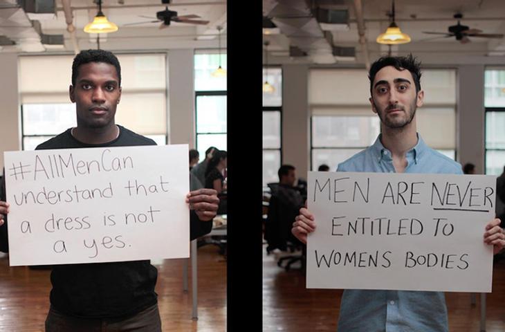 Ayuda hablando de feminismo con otros hombres