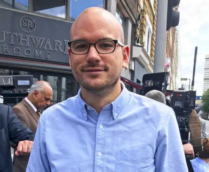 Richard Angell, en el lugar del atentado