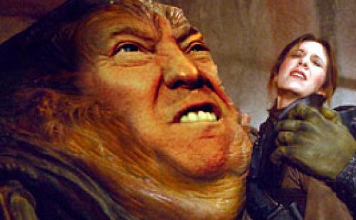 Donald Trump, haciéndolo en el espacio