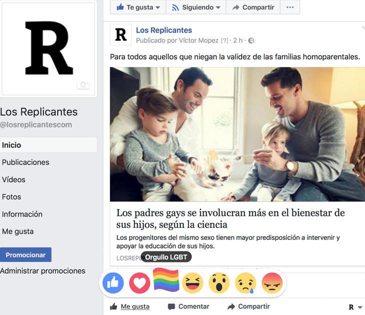 Reparte banderas arcoíris por Facebook