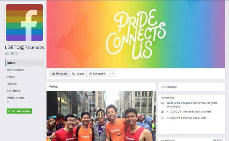 Da 'me gusta' a la página LGBTQ@Facebook
